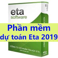 phần mềm dự toán Eta năm 2019