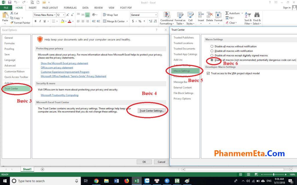 Lỗi #NAME trong file Excel dự toán Eta
