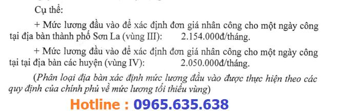 hướng dẫn lập dự toán tỉnh Sơn La