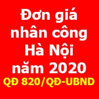 Đơn giá nhân công xây dựng Hà Nội năm 2020