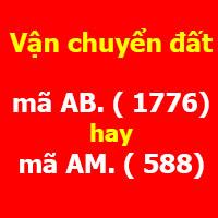 tính Chi phí vận chuyển đất theo mã AB hay mã AM