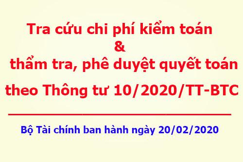 Chi phí kiểm toán quyết toán theo Thông tư 10/2020/TT-BTC