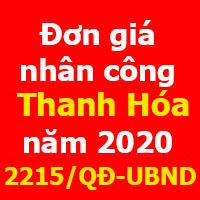 lập dự toán tỉnh Thanh Hóa năm 2020