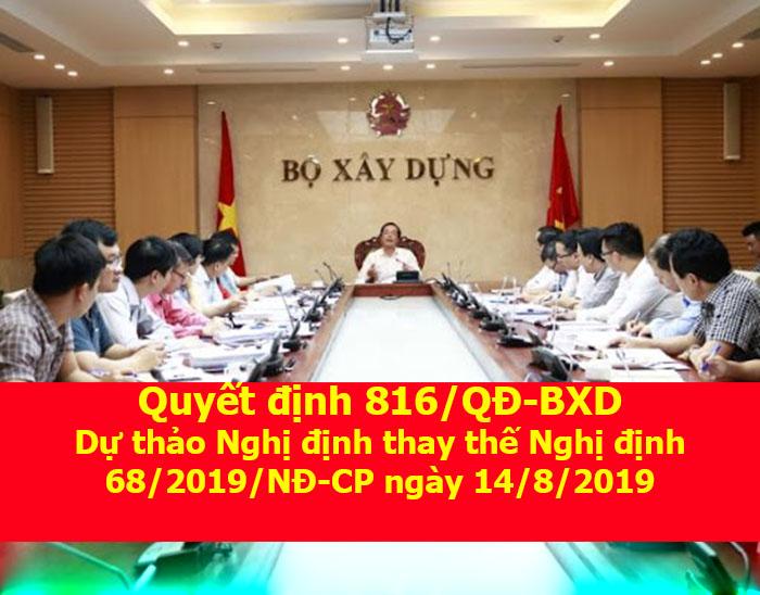 Quyết định 816/QĐ-BXD của Bộ xây dựng ngày 18/6/2020