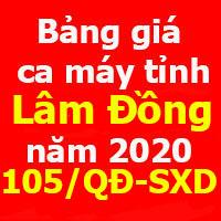 Quyết định 105/QĐ-SXD đơn giá nhân công xây dựng tỉnh Lâm Đồng