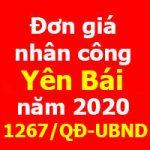 Quyết định 1267/QĐ-UBND đơn giá nhân công Yên Bái