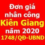 Đơn giá nhân công tỉnh Kiên Giang năm 2020 Quyết định 1748/QĐ-UBND
