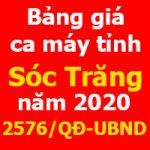 Quyết định 2576/QĐ-UBND Bảng giá ca máy thiết bị tỉnh Sóc Trăng năm 2020