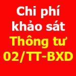 Chi phí khảo sát theo Thông tư 02/2020/TT-BXD