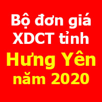Đơn giá xây dựng công trình tỉnh Hưng Yên 2020