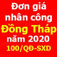 Quyết định 100/QĐ-SXD Đơn giá nhân công xây dựng tỉnh Đồng Tháp năm 2020