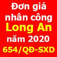 Đơn giá nhân công xây dựng tỉnh Long An 2020