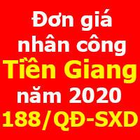 Đơn giá nhân công tỉnh Tiền Giang năm 2020