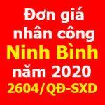 Đơn giá nhân công Ninh Bình năm 2020