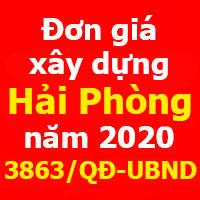 đơn giá XDCT thành phố Hải Phòng năm 2020