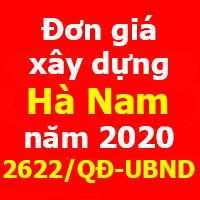 Đơn giá xây dựng tỉnh Hà Nam quyết định 2622/QĐ-UBND