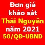 Đơn giá khảo sát tỉnh Thái Nguyên năm 2021