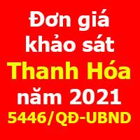 Đơn giá khảo sát tỉnh Thanh Hóa năm 2020