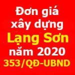 Đơn giá xây dựng tỉnh Lạng Sơn năm 2021 Quyết định 353/QĐ-UBND