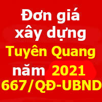 Đơn giá xây dựng công trình tỉnh Tuyên Quang năm 2021
