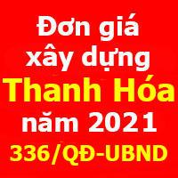 Đơn giá xây dựng tỉnh Thanh Hóa năm 2021