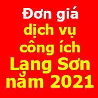 Đơn giá dịch vụ công ích Lạng Sơn 2021