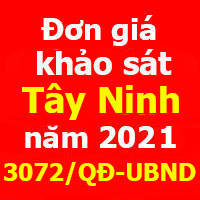Đơn giá khảo sát Tây Ninh năm 2021 Quyết định 3072/QĐ-UBND