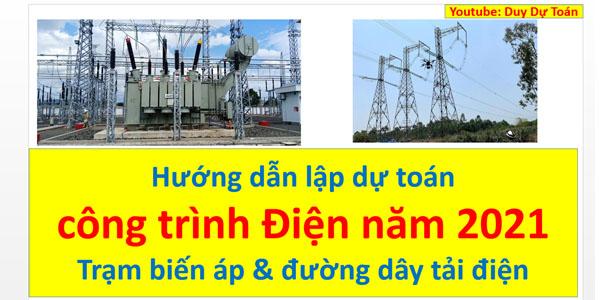 Hướng dẫn lập dự toán công trình điện