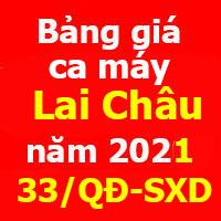 Bảng giá ca máy tỉnh Lai Châu năm 2021