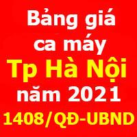 Đơn giá ca máy Hà Nội năm 2021