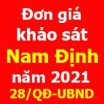 Đơn giá khảo sát tỉnh Nam Định Quyết định 28/QĐ-UBND
