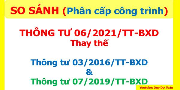 So sánh thông tư 06/2021/TT-BXD thay thế thông tư 03/2016/TT-BXD