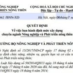 Đơn giá thủy lợi năm 2021 Quyết định 2962/BNN-XD