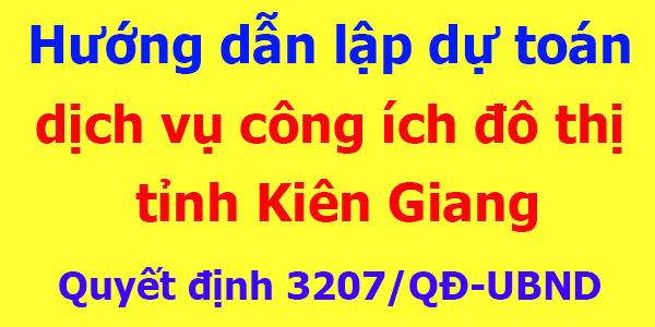 Lập dự toán công ích đô thị tỉnh Kiên Giang
