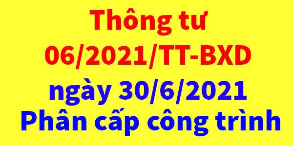 Thông tư 06/2021/TT-BXD Bộ xây dựng
