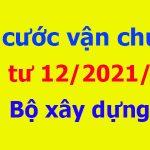 Tính cước vận chuyển theo Thông tư 12/2021/tt-bxd